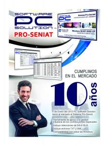 afiche 10 años pro seniat